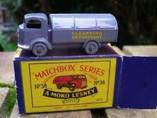 MATCHBOX LESNEY MOKO 38 KARRIER REFUSE COLLECTOR neuf en boite d'origine
