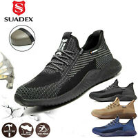 Mens Work Safety Shoes Steel Toe Cap Lightweight Boots Indestructible Sneakers