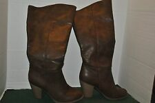 Forever 21 high heel ladies pirate boots mocha brown size 10 3 1/2 in heels