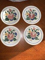 "Vintage RED WING ORLEANS 4 - 7"" Dessert Pie Salad Plates 1940's"