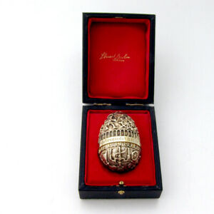 Stuart Devlin Egg Ornament Metropolitan Opera 1983 Sterling Silver Gilt