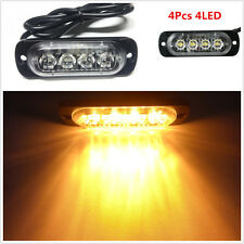 4X4LED Ultrathin Car Flash Emergency Beacon Bar Hazard Police Warning Light Lamp