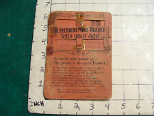 vintage paper: complete NUMERICAL MIND READER early 1900, 8 card Puzzle Magic