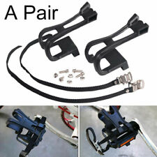 1 Pair Cycling Road Bike Mountain Bicycle Toe Clips With Strap For Bicycle Pedal