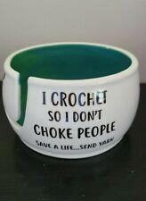 Lenny Mud  Crochet Choke Yarn Bowl USA
