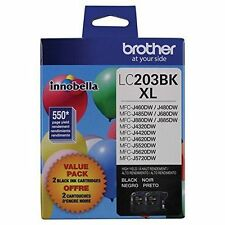Brother Inobella LC203BK XL High Yield Black Ink Cartridge Twin Pack