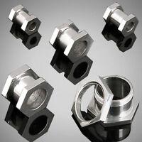 Pair Steel Hexagon Screw Fit Hollow Ear Plugs Flesh Tunnels Earrings Gauges