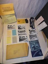 VINTAGE CUB SCOUT CEREMONIES BOOK PICTURE BELT MERIT BADGE CARDS APPLICATION LOT