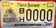 New Jersey Baymen license plate Beach Lighthouse Duck Sea Hunt Hunting fishing