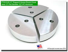 "12"" Tongue & Groove Aluminum Round Chuck Soft Top Jaws (2"" HT, 12"" Pie Diameter)"
