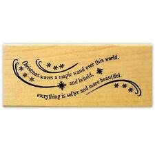Magic Wand mounted Christmas rubber stamp, quote, sentiment #19
