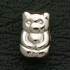 Teddy Bear European Charm Bracelet Bead Stainless Steel Animal Gifts