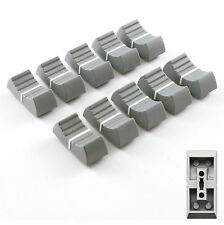 MIXER SLIDER Fader Knobs 4mm Fit - Grey X 10 (+Option: Other Colours)