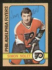 Simon Nolet signed autograph 1972-73 Topps Hockey Card