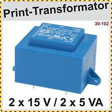 Print Trafo EI 48/16,8  10VA  primär 230 V   sekundär 2x15 V Printtrafo