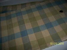 Vintage Sewing Craft  Decorator Upholstery Drapery Fabric  Blue Green Gold 2-3Y