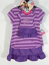 "What A Doll Matching Shirt Skirt/Skort Set Purple Stripe Fits 18"" doll 4/5 New"