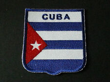 BACKPACKERS NATIONAL COUNTRY SHIELD FLAG SEW/IRON ON PATCH:- CUBA