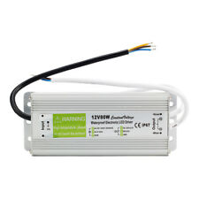 LED Driver Power Supply Transformer 240V DC12V 80W Waterproof IP67 LED Strip UK