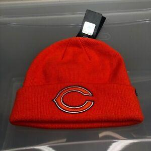 Chicago Bears 47 Brand Winter Hat. New NWT Orange Beanie Cap. NFL Football