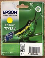 EPSON STYLUS PHOTO 950 YELLOW Original Ink Print Cartridge T0334 - New Sealed