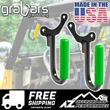 GraBars Front Grab Bars with Green Grips for 1987-1995 Jeep Wrangler YJ 1019G