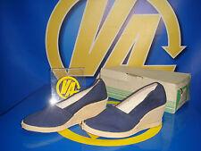 Zapatos Femeninos vintage Azul Florencia talla 34 tacon 20 cm nuevo- Lucy