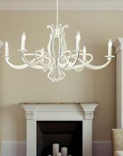 Lampadario classico 6 luci in metallo bianco coll. Dese 2001-6