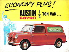 Austin mini 1/4 ton van original uk sales brochure pub. no 1937/A circa 1961