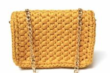 Yellow Crochet Crossbody Handbag
