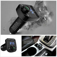 Car Handsfree Wireless Bluetooth FM Transmitter LCD MP3 Player USB Charger Kit