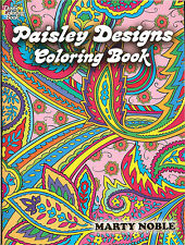 Paisley Designs Coloring Book by Marty Noble from Dover Publications, NEW PB