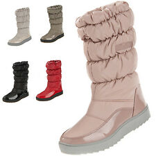 Womens Ladies Outdoor Waterproof Fur Lined Snow Boots Winter Warm Mid-calf Shoes