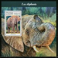 GUINEA  2018 ELEPHANTS  SOUVENIR SHEET MINT NH