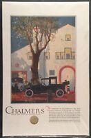 1919 CHALMERS AUTOMOBILE Original Vintage Full Page Color Print Ad Advertisment