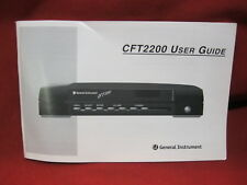 General Instrument CFT 2200 Cable Box User Guide CFT2200