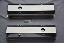 SBC CHEVY 327 350 383 400 TALL ALUMINUM FABRICATED VALVE COVERS WITH ACC HOLES