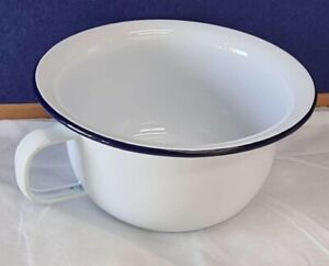 Falcon Ware Enamel Chamber Pot Potty Blue and White BRAND NEW