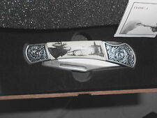 Falkner Collectible Knife MIB Moose Limited Edition COA Stainless Steel Folding