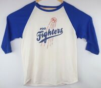 1990's FOO FIGHTERS band vtg rock Band tshirt Large LA TOUR Shirley Dodgers Blue