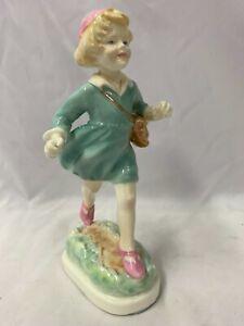 Royal Worcester Girl Figure/Figurine ~ Thursdays Child Has Far To Go ~ No.3522