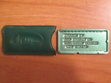 Vintage Hess Brothers Charge Plate And Cover From Allentown, PA Store