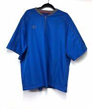 Mizuno XL Short Sleeve Pullover Shirt - Blue - 1/4 Zip