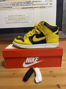 Nike Dunk HI SP Iowa Black Varsity Maize CZ8149-002 Men's Size 9 Sneakers NIKE