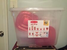 Rubbermaid 62 Piece Food Storage Containers Set TakeAlongs Clear Plastic