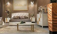Italienische Stil Möbel 4tlg. Set Bett + 2x Nachttisch + Kommode Schlafzimmer