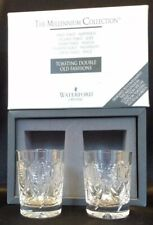 WATERFORD MILLENNIUM MILLENIUM HAPPINESS, DOUBLE OLD FASHIONS, DOF, MINT IN BOX