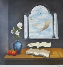 Rafal Olbinski Calendar of Yesterdays Wishes HAND SIGNED NUMBERED LITHOGRAPH