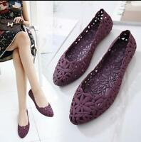 2018 new womens flats hollow out jelly shoes slip on loafers casual shoes sandal