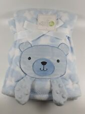 Blue Bear Blanket By Baby Gear With Crinkle Paws